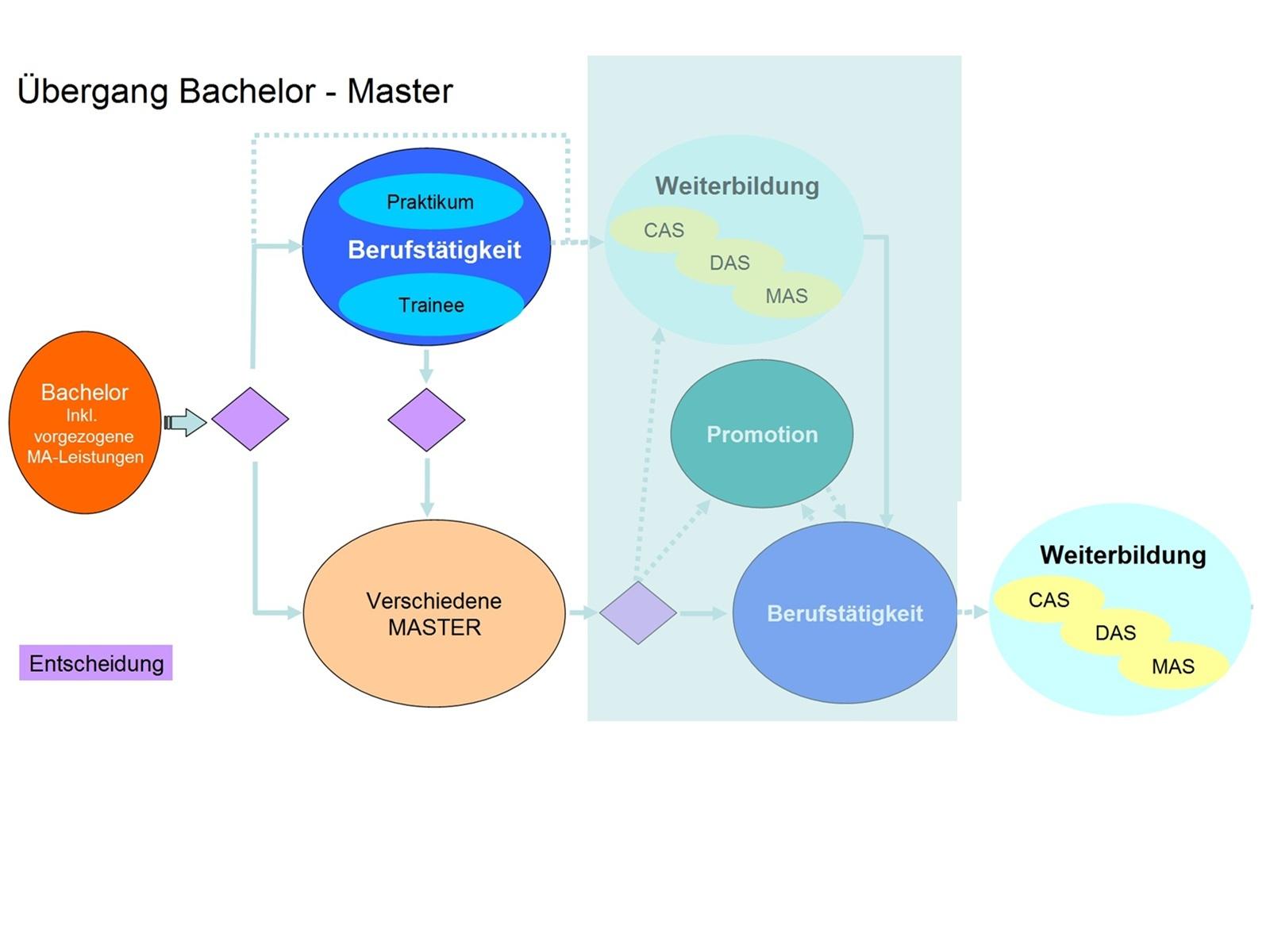 Entscheidungswege am Übergang BA-MA